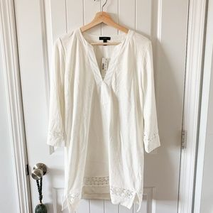 nwt j crew   embroidered tunic